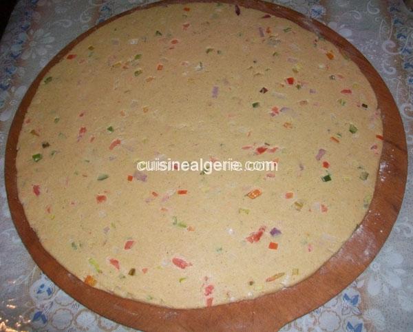 Aghroum aux légumes (pain kabyle) - préparation