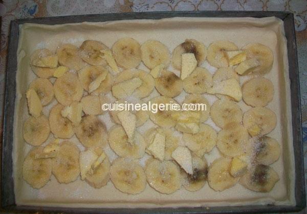 Tarte à la banane - préparation