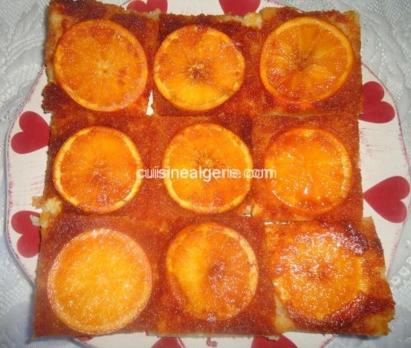 Tarte aux oranges caramélisées