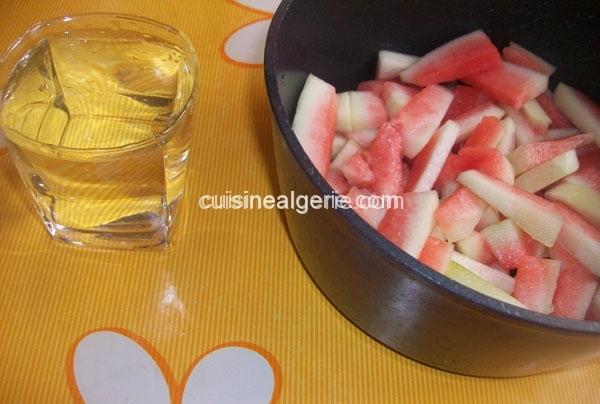 Confiture d'épluchures de pastèque