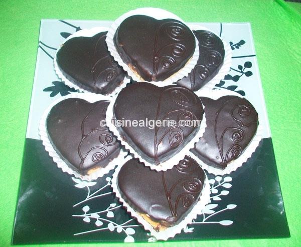 Cœurs au chocolat
