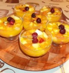 Flan aux fruits et jus d'orange